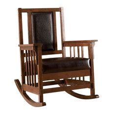 Apple Valley Transitional Apple Valley Rocker Chair Expresso Finish