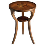 Butler - Butler Dalton Round Accent Table, Olive Ash Burl - Selected solid woods and choice cherry veneers. Maple, walnut and cherry veneers inlay design top.