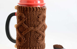 French Press Cozy, Brown by Odessete's Studio