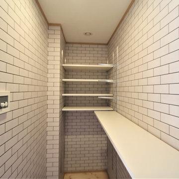 2階リビングの北欧スタイルの住まい