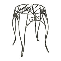 """Panacea™ 89175 Classic Finial Style Plant Stand, Black, 15"""""""