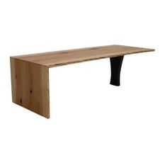 Urban Lumber Company Waterfall Live Edge Coffee Table White Oak Coffee Tables