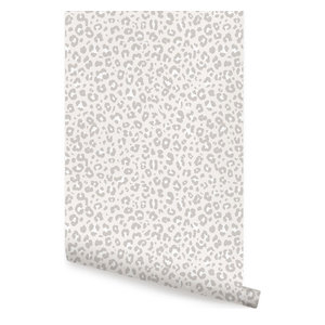 Animal Print Leopard Peel And Stick Wallpaper Contemporary Wallpaper By Simple Shapes