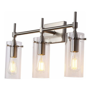 detailed look d877d f2015 3 Light Bathroom Vanity Light Hallway Wall Sconce Brushed ...