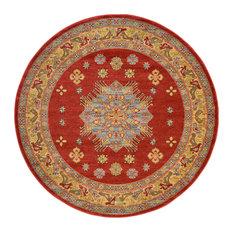 Unique Loom Red Cyrus Sahand 6' 0 x 6' 0 Round Rug