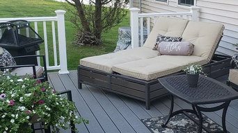 Outdoor living before and after