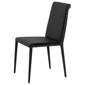 Cinthia Black Leather Chairs, Set of 2