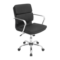 Lumisource Bachelor fice Chair Black fice Chairs