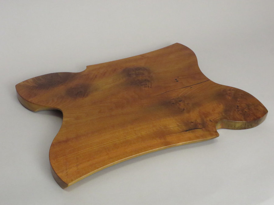 #15033 Hand-Carved Serving Tray. Reclaimed Heartwood Poplar