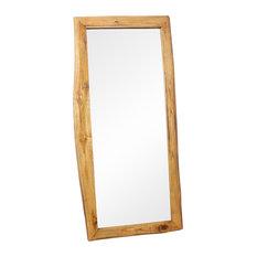 "Rectangular Mirror 22""x48"", Walnut"