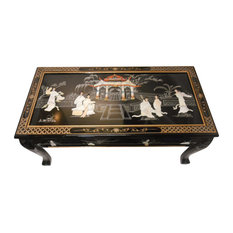 Oriental Furnishings   Ball And Claw Lacquer Mother Of Pearl Inlaid Dragon Coffee  Table   Coffee