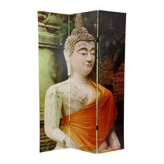 6' Tall Draped Buddha Double Sided Room Divider