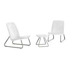 Keter Rio Patio Furniture Set, White