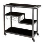Zephs Bar Cart, Gunmetal Gray, Gray