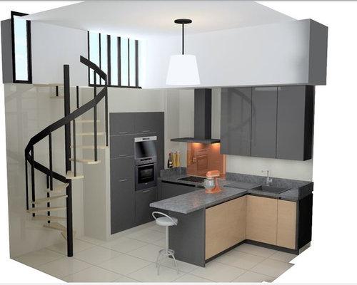 cuisine design esprit loft industriel. Black Bedroom Furniture Sets. Home Design Ideas