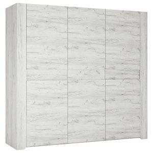 Angel 3-Door Wardrobe, Whitewashed Oak