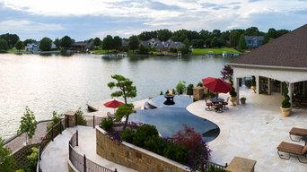 Modern Mediterranean Infinity Pool/Spa/Fountain Design