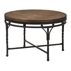 Austin Antique Bronze Round Coffee Cocktail Occasional Table