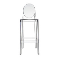 One More Bar Stool - Set Of Two Transparent Crystal Counter Height