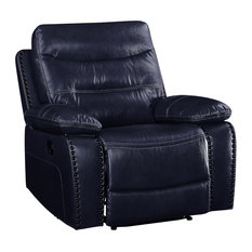 Aashi Recliner  Navy Leather-Gel Match