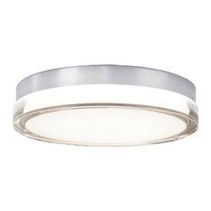 """Pi 9"""" LED Round Flush Mount 3500K, Stainless Steel"""