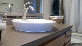 Vessel sink for bathroom lav