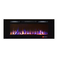 """Bombay 60"""" Crystal Touch Screen Multi-Color Wall Mounted Electric Fireplace"""