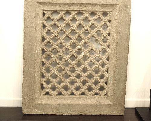 建築装飾石盤 - 彫刻