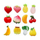 12-Piece Lovely Fruits Pattern Fridge Magnets Home Decorations