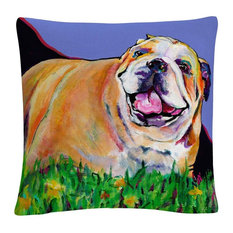 Spring Fever' Animals Pets Painting Bold Decorative Throw Pillow