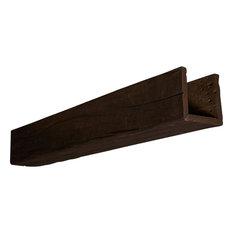 3-Sided Riverwood Faux Wood Ceiling Beam, Whitewash, 22' Length