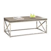 "Monarch Specialties I 3258 44"" Wide Particle Board Top Metal Coffee Table"