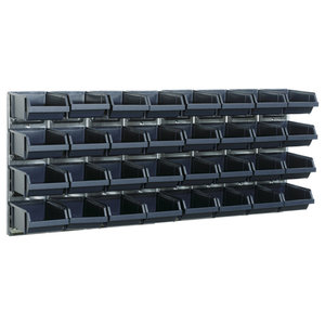 Raaco Bin Wall Panel With 32 Bins, Set of 2