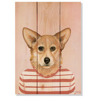 Corgi Indoor/Outdoor Full Color Wood Wall Art, 11x15