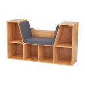 KidKraft Bookcase With Reading Nook, Natural