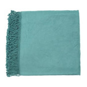 """Surya 50"""" x 67"""" Indoor Throw Blanket From The Tian Tian Collection"""