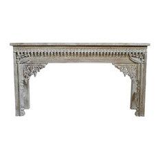 White Wash Architectural Console Table