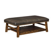 Mission Plank Brown Accent Bench