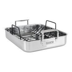 Viking 3-Ply Roasting Pan With Nonstick Rack, Mirror