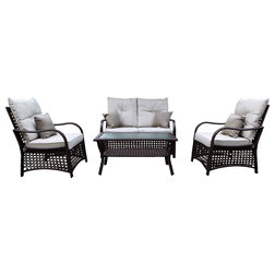 Awesome Tropical Outdoor Lounge Sets by Bamboogle