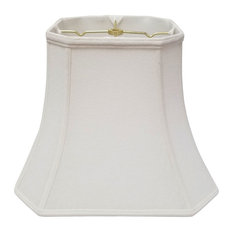Royal Designs Square Cut Corner Bell Lamp Shade, Linen White, 9x16x13