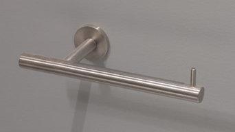 stainless steel bathroom hardware