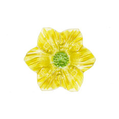 Flower Shaped Glass Plate, Yellow