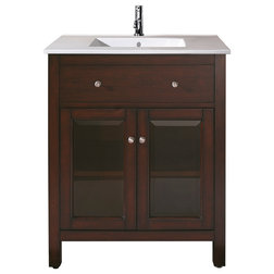 Elegant Transitional Bathroom Vanities And Sink Consoles Lexington Vanity Light Espresso