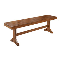 Wood Dining Bench Brown