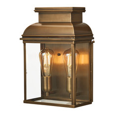 Old Bailey Brass Wall Lantern Large