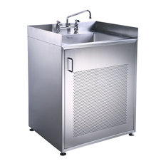 Pearlhaus Single Door Stainless Steel Sink With Cabinet