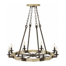 Wyatt 8-Light Foyer, Iron Rust