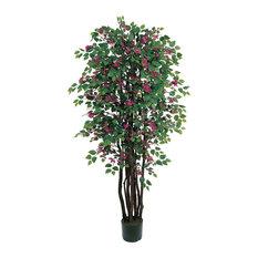 6 ft. Bougainvillea Silk Tree in Green