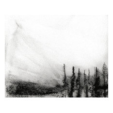 """Bring home Dear Valley, Utah with """"Snowed Sky I"""" charcoal on paper by Ann Rea"""